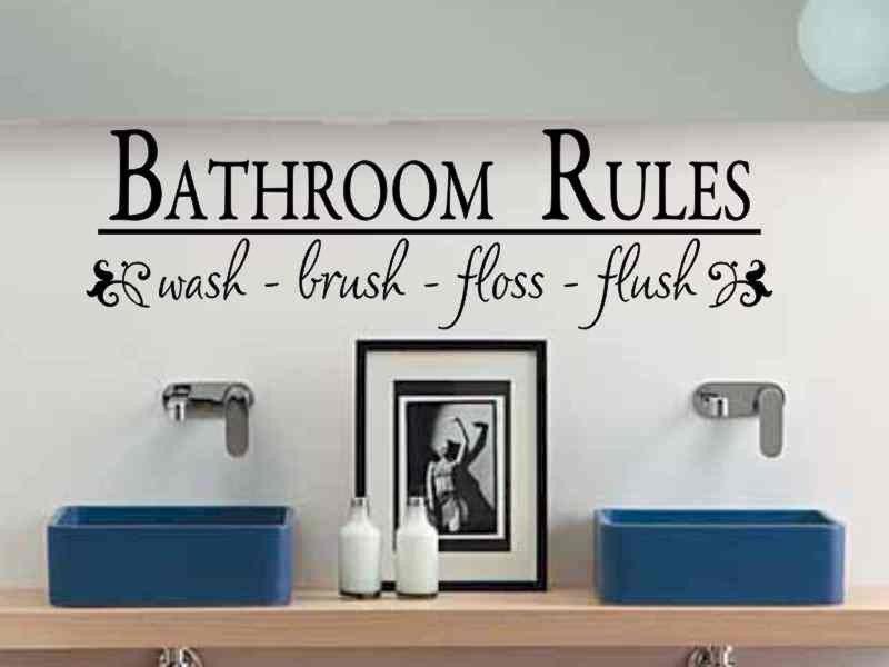 Bathroom Decals