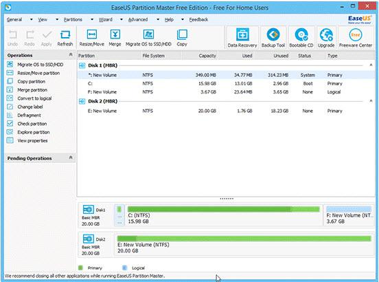 EaseUS Partition Master Better Than Windows 7 Partition Utility