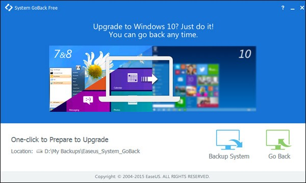 Single Click Needed To Go Back To Windows 8.1 from Windows 10